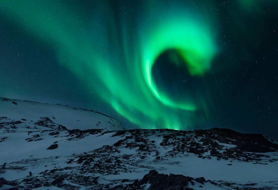 camping con la aurora boreal