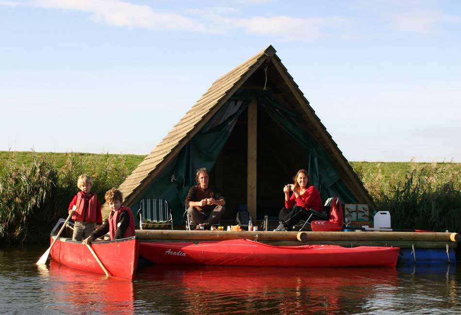 camping en balsa