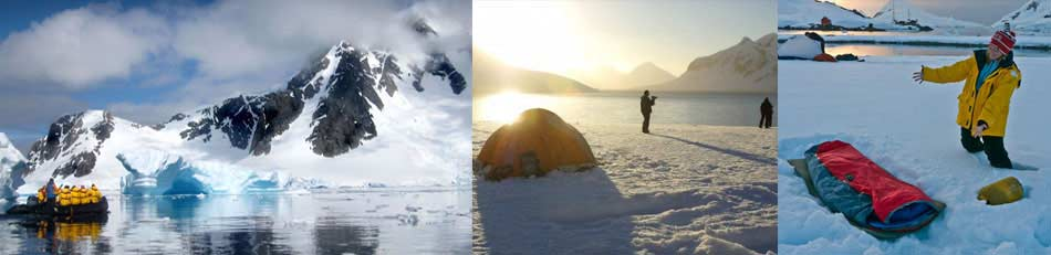 camping en Ártico y Antártida