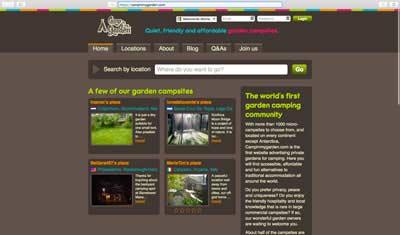 el gamping en campinmygarden.com