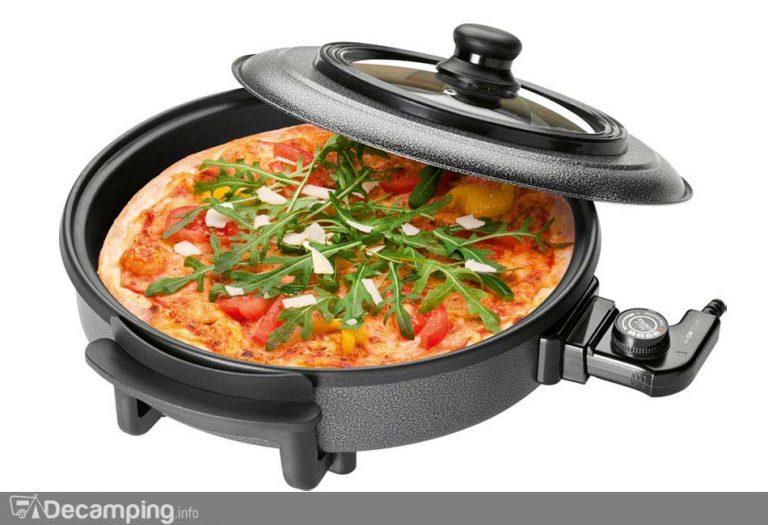 Pizza-pan para cocinar en el camping