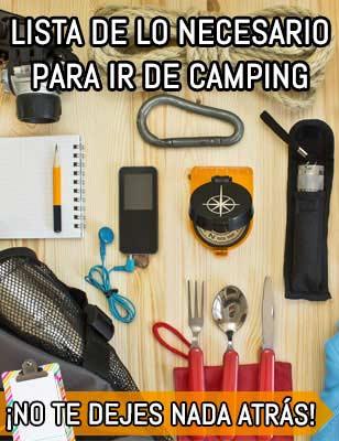 Todo lo que necesitas para ir de camping