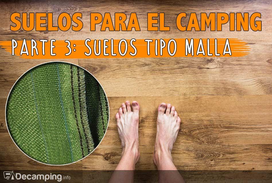 Suelos de malla para el camping