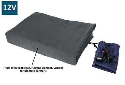 Manta eléctrica furgo camping