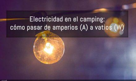 Electricidad en el camping: de Amperios (A) a Vatios (W)
