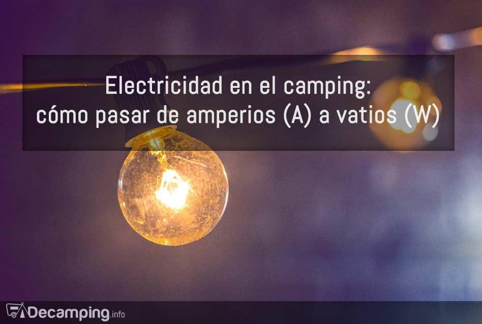 Electricidad en el camping