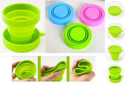 Vasos plegables silicona camping