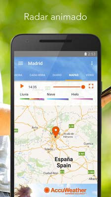 App para el camping - accuweather