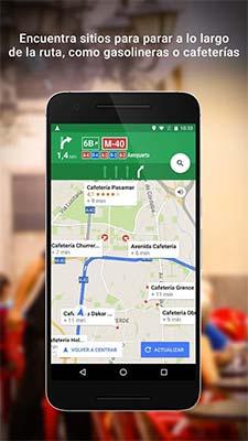 App para el camping - google maps