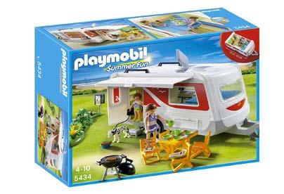 Juguetes de camping - caravana Playmobil