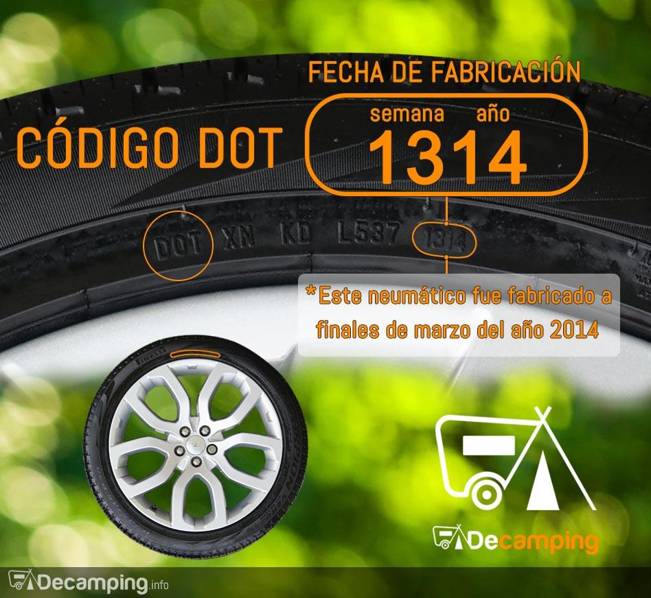 dot de los neumáticos