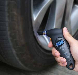 Medidor digital de presión de los neumáticos