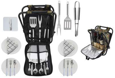 set de utensilios de cocina para el camping