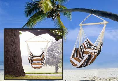silla colgante para el camping