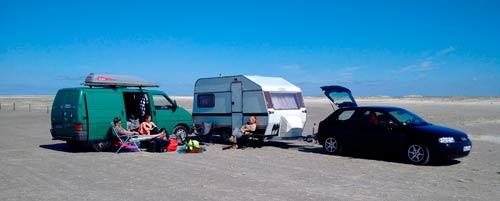 Vehículos acampados