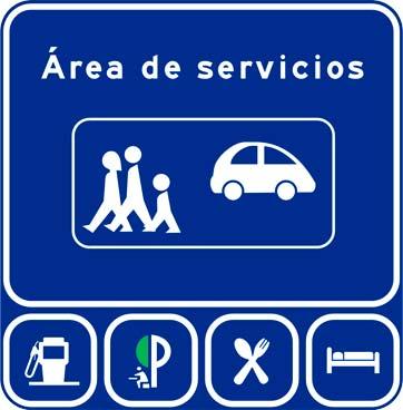 Señal S-127 área de servicios