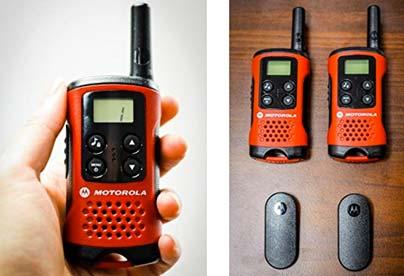 walkie talkie para el camping