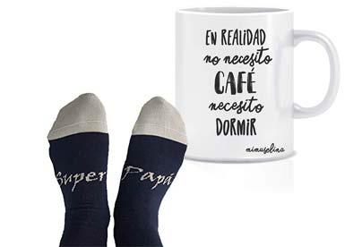 Taza y calcetines para el día del padre