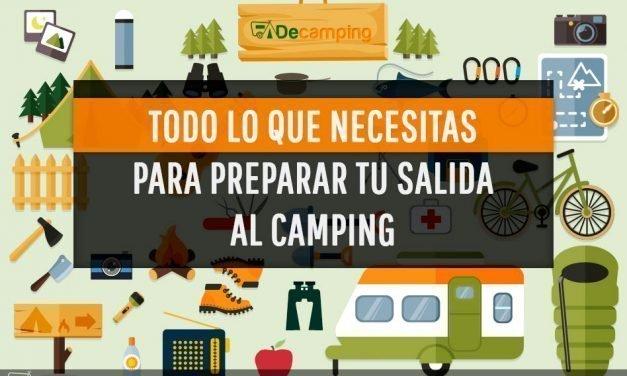 Todo lo que necesitas para preparar tu salida al camping