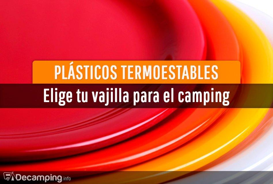 Plásticos termoestables y vajillas para el camping