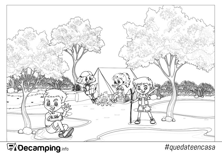 Decamping.info Peques para colorear
