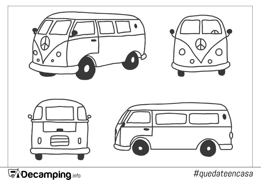 Dibujo furgoneta VolksWagen para colorear