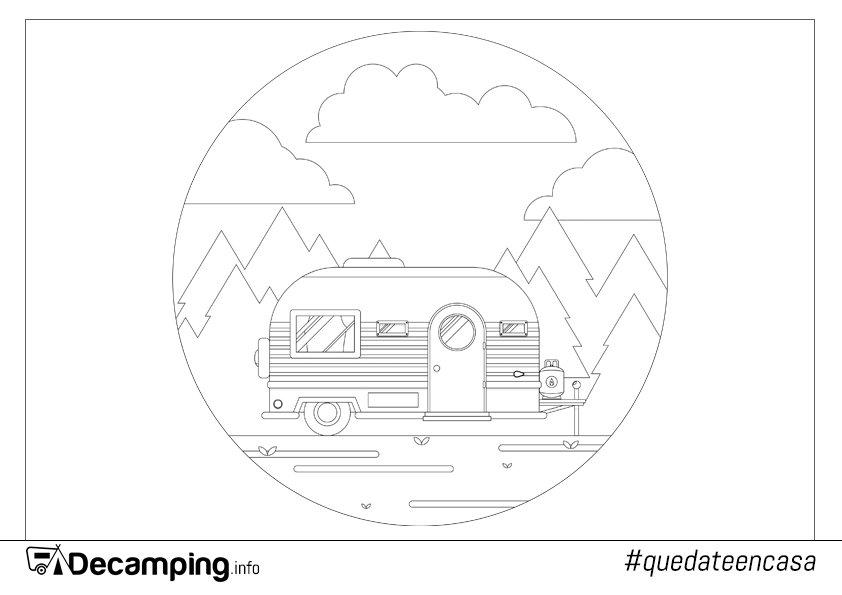 Dibujo caravana para colorear