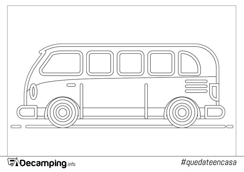 Decamping.info Volkswagen para colorear