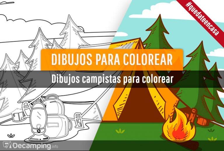 Dibujos campistas para colorear