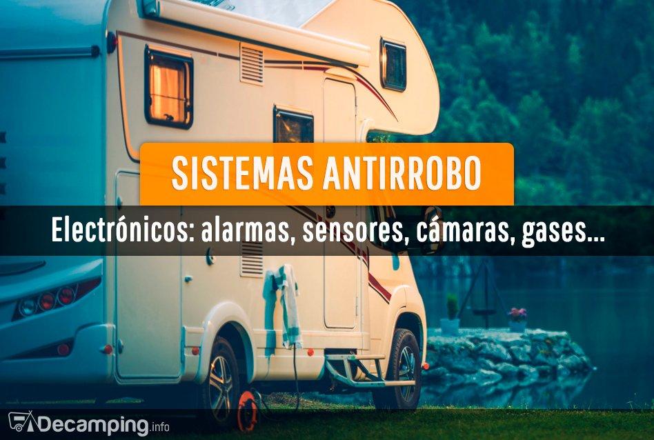 Sistemas antirrobo electrónicos para vehículos de camping