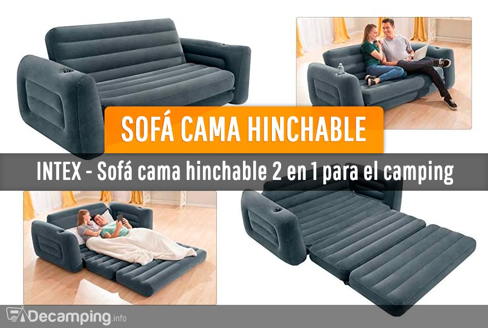 Sofá cama hinchable Intex para el camping